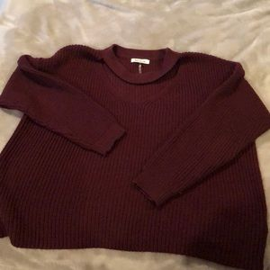 Sweaters - Maroon cozy winter sweater